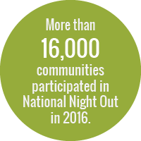 More than 16,000 communities participated in National Night Out in 2016.