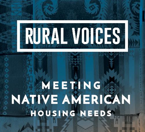 Cover of Rural Voices: Meeting Native American Housing Needs on colorful Native background