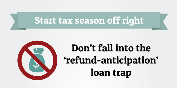 Text graphic that reads: Start tax season off right
