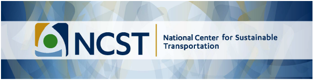 National Center for Sustainable Transportation header banner