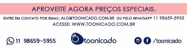 Maiores informações entre em contato através do email alo@toonicado.com.br ou via whatsapp 11 98659-5955