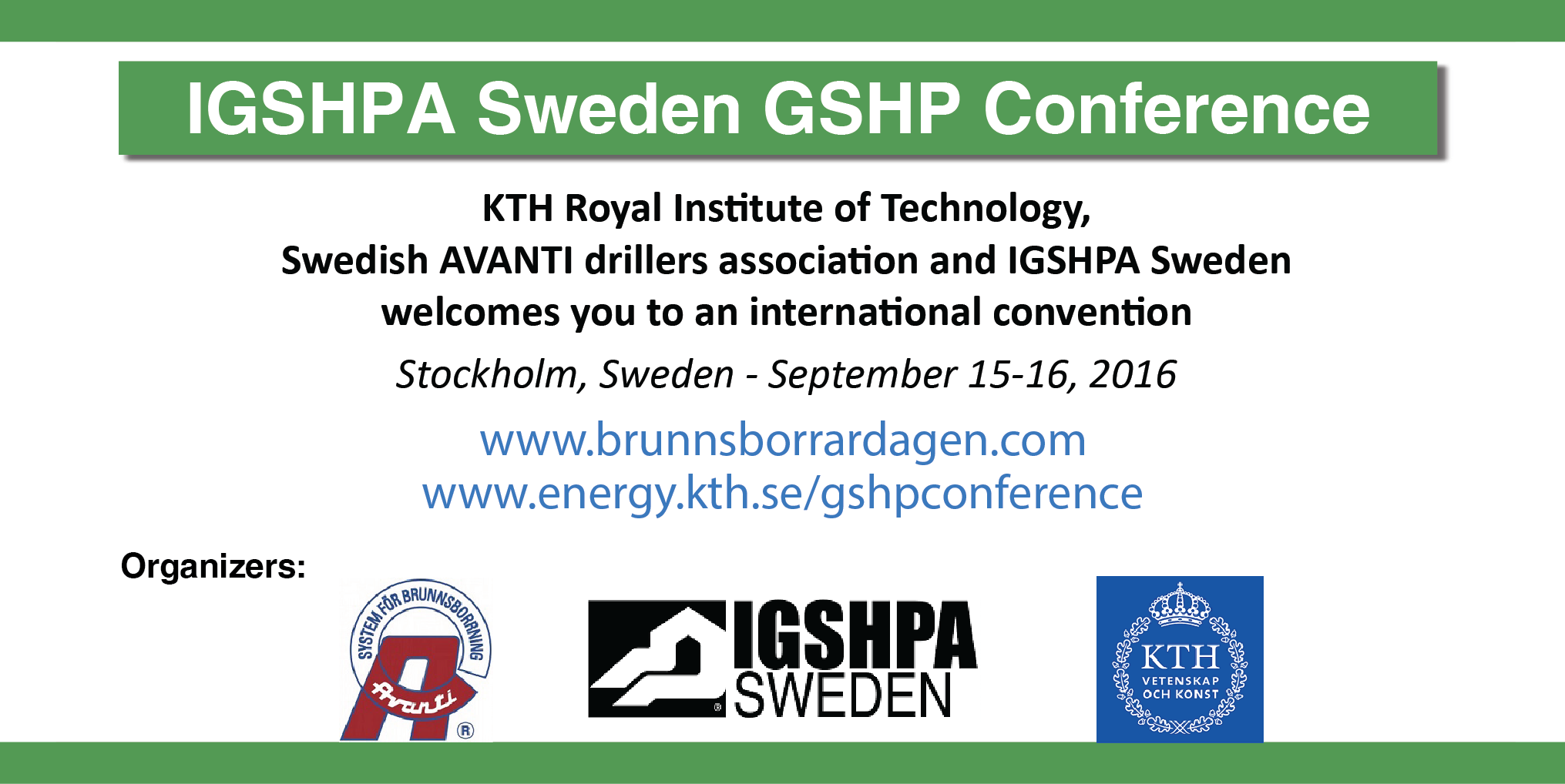 IGSHPA Sweden GSHP Conference