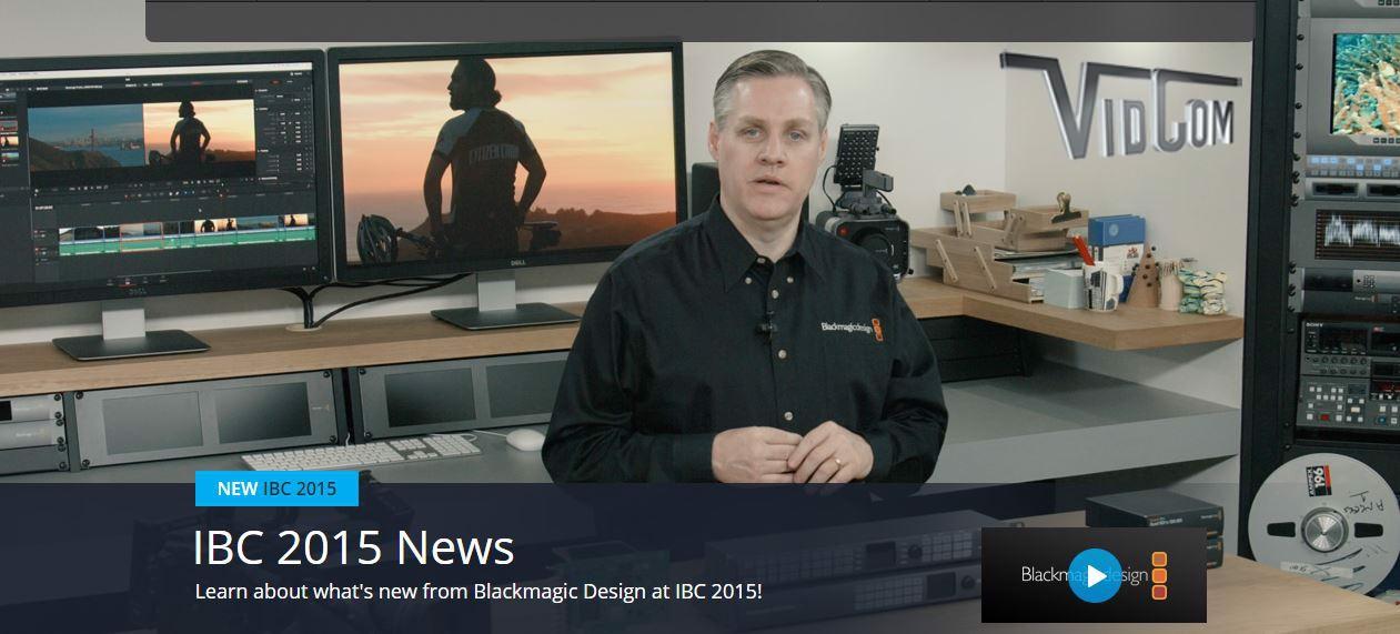 Blackmagic Design IBC Update