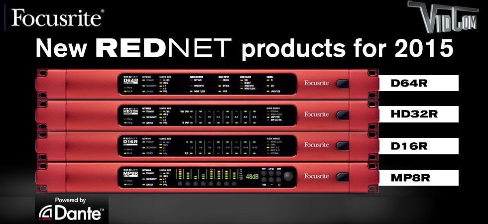 Focusrite RedNet Digital Audio Systems with Dante