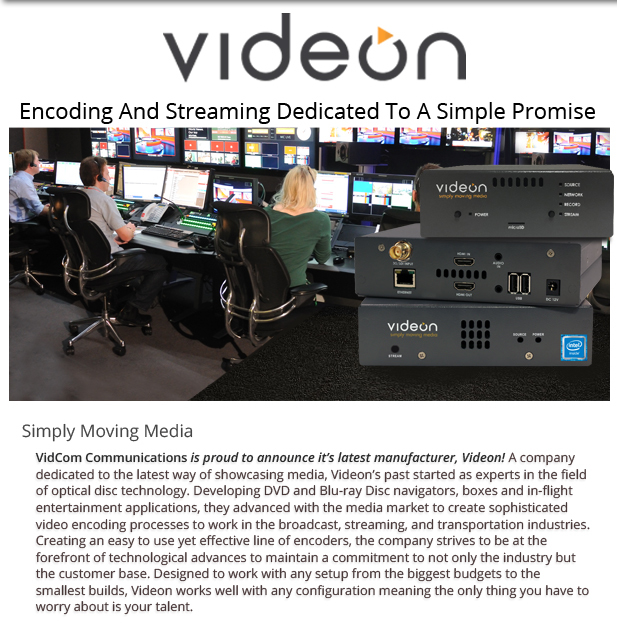 Videon Encoding and Streaming