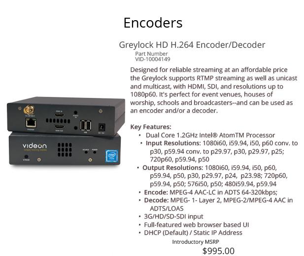 Greylock HD Encoder