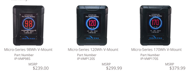 Micro-Series V-Mount Batteries