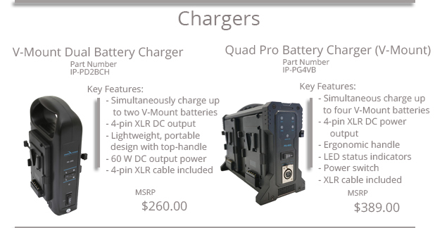 Battery Chargers & Mounting Plates