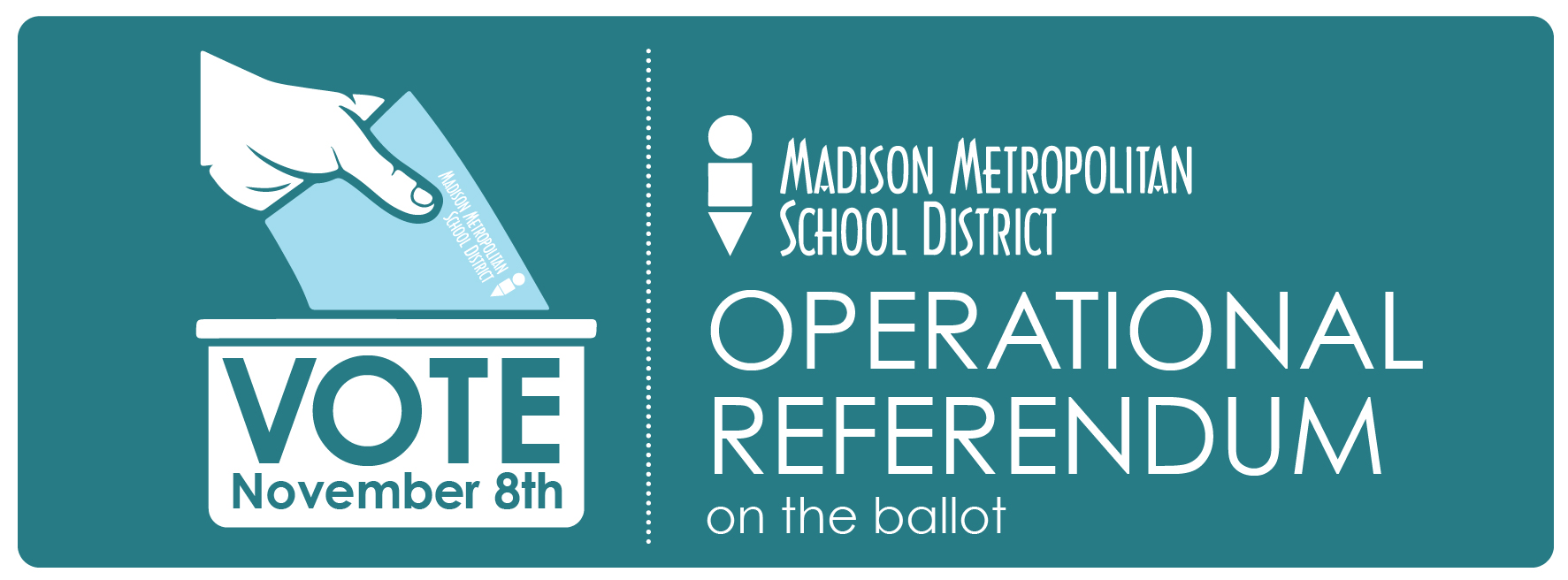 MMSD Operational Referendum on the ballot banner