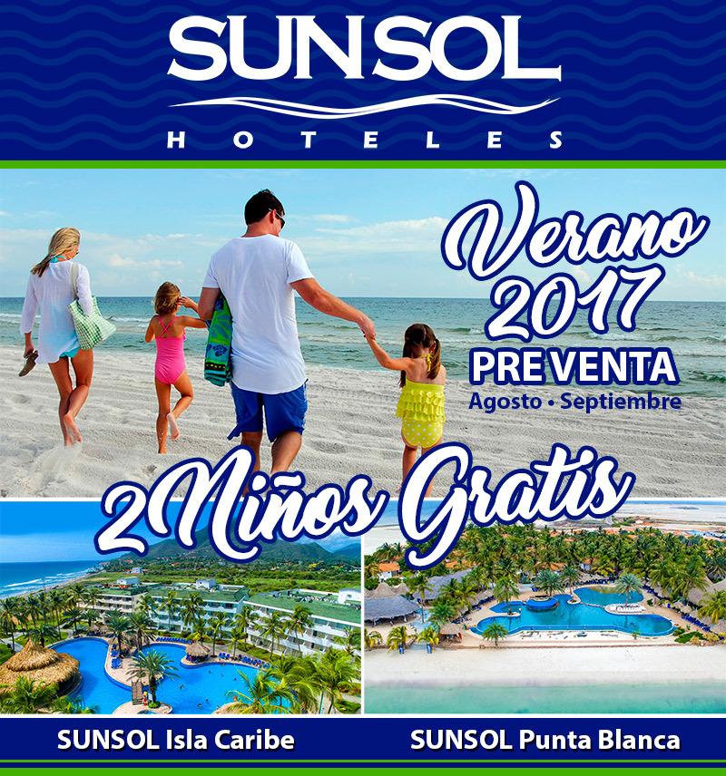 Preventa Verano 2017 en Sunsol Hoteles