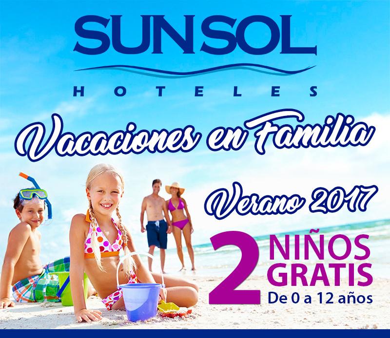 Agosto y Septiembre con niños gratis en Sunsol Hoteles