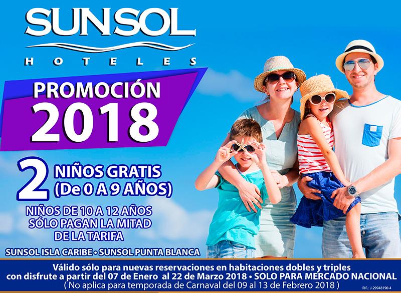 PROMOCIÓN 2018 EN SUNSOL HOTELES