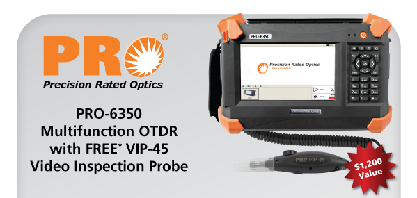 PRO-6350 OTDR with FREE FBT-80 FiberBase Tablet