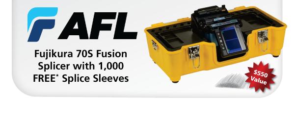 Fujikura 70S Fusion Splicer with 1,000 FREE Splice Sleeves