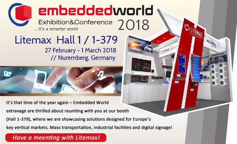Litemax invite you to visit Embeddedworld 2018