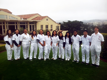 Enterprise students at Olympic Club