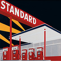 Ed Ruscha exhibit from Fall Art & Antiques Show Cultural Partner