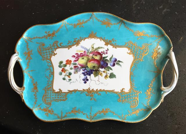 Louis XV porcelian tray from Fall Art & Antiques Show Cultural Partner