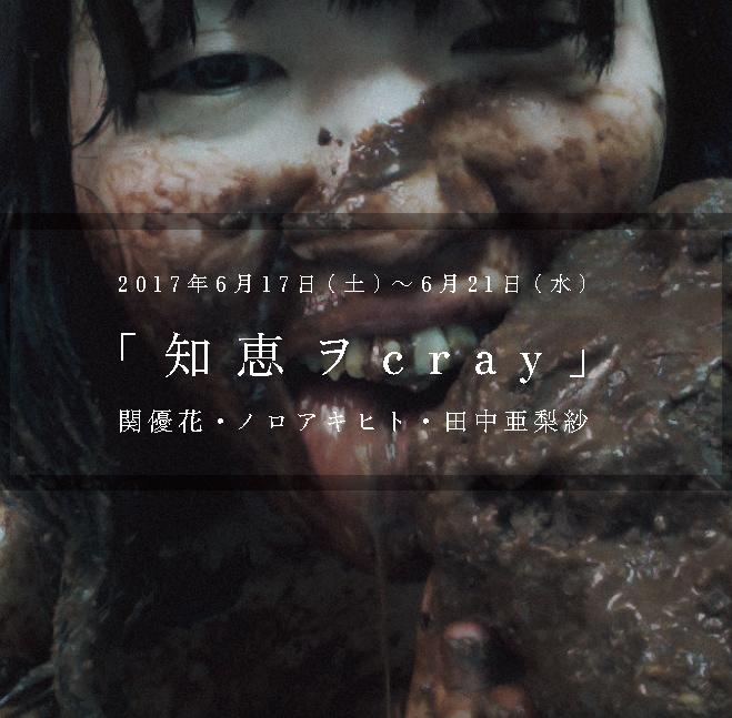 関優花+ノロアキヒト+田中亜梨紗 展覧会「知恵ヲcray」