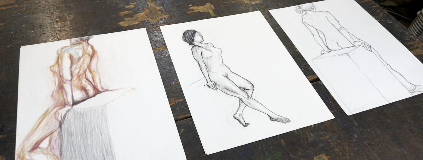 デッサン会「老醜を描く」