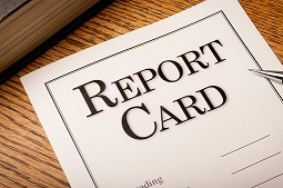 Image of paper report card