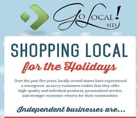 Go Local!ND logo promoting shopping local for the holidays