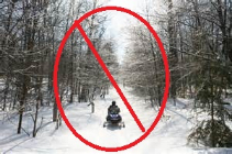 No snowmobiles allowed on the Eastern Trail!