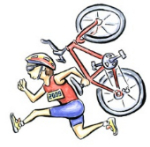 Image of a runner with a bike