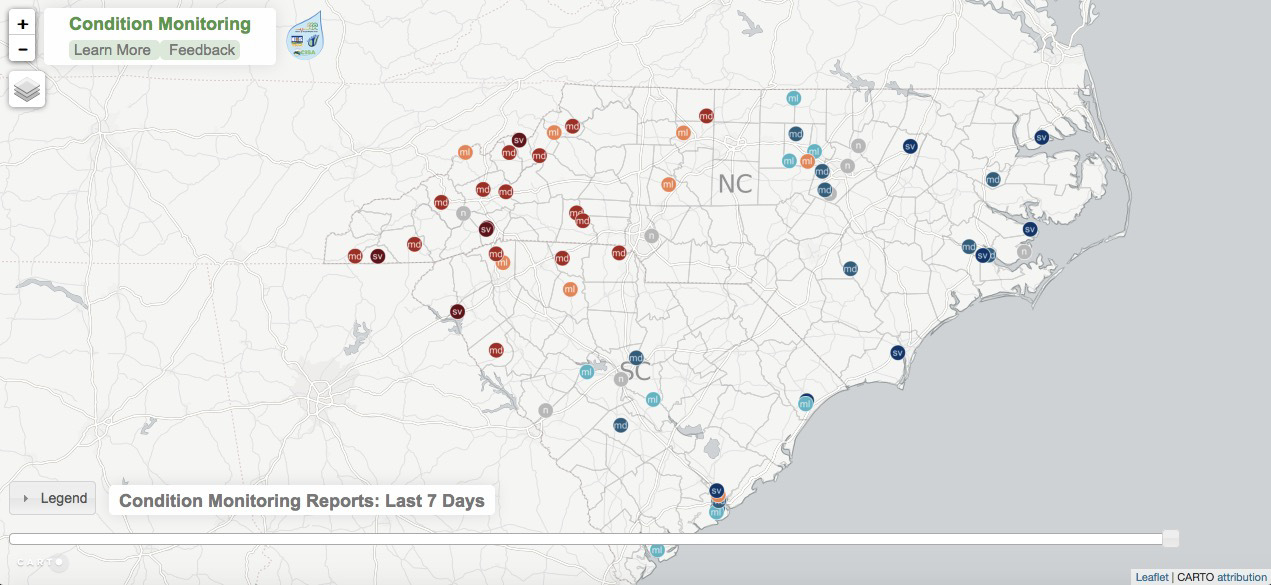 N.C. condition monitoring report