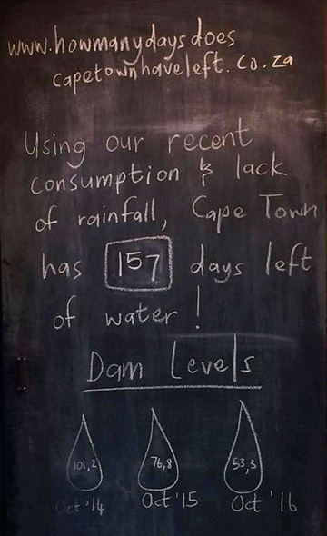 Cape Town coffee shop sign