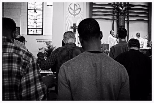 Photo: Men in Worship