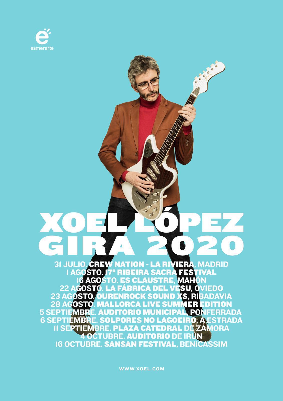 Xoel López actuará el 5 de septiembre en el Auditorio Municipal de Ponferrada 2
