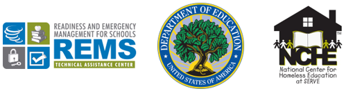 Joint REMS-TA Center, U.S. Department of Education, and NCHE logo