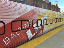 BaltimoreLink wrap on MARC train car