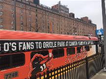 Oriole's wrap on MARC train car
