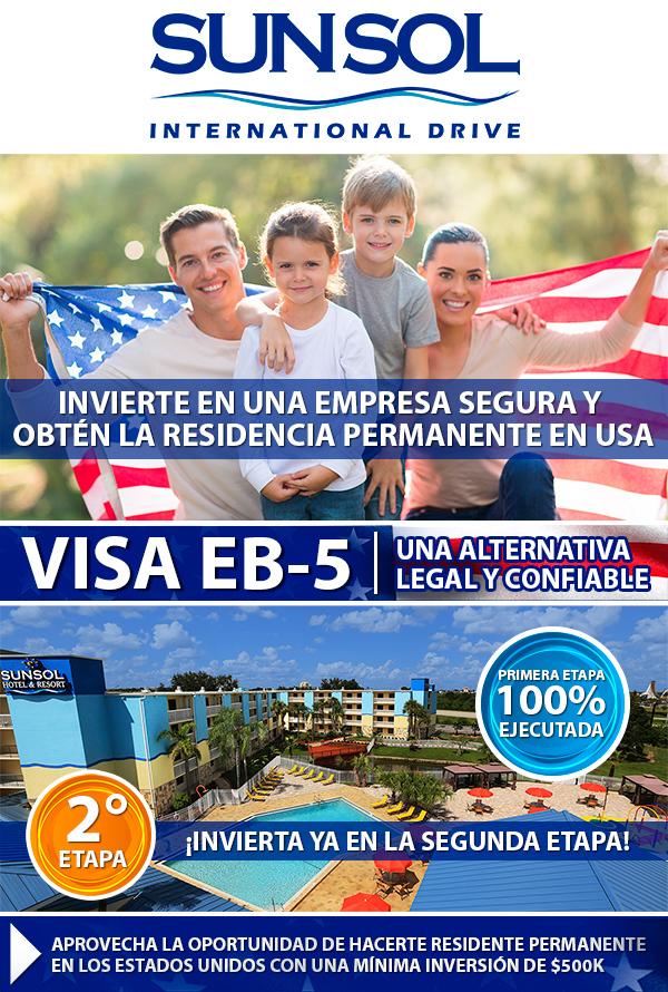 Invierte en Sunsol Hotels y opta por una visa de residencia en USA
