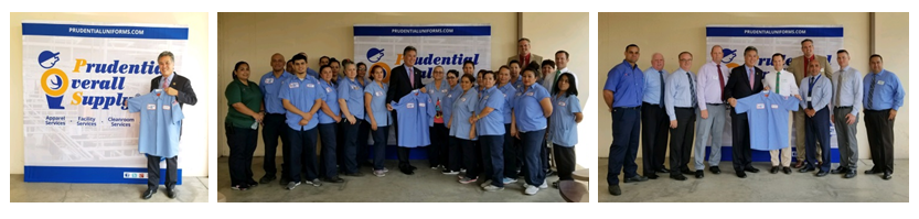 PRUDENTIAL OVERALL SUPPLY HOSTS CONGRESSIONAL VISIT  AT ITS RIVERSIDE, CA LAUNDRY PROCESSING FACILITY