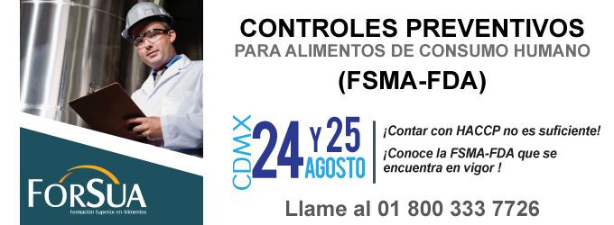 Controles Preventivos para Alimentos de Consumo Humano FSMA-FDA
