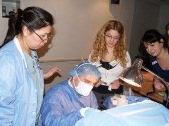Dr. Perigrina Arciaga and her staff