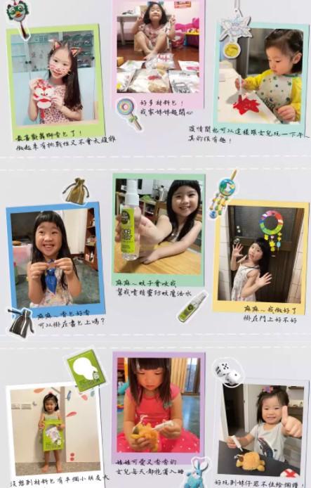 Children enjoy Wonderland DIY Kit at home